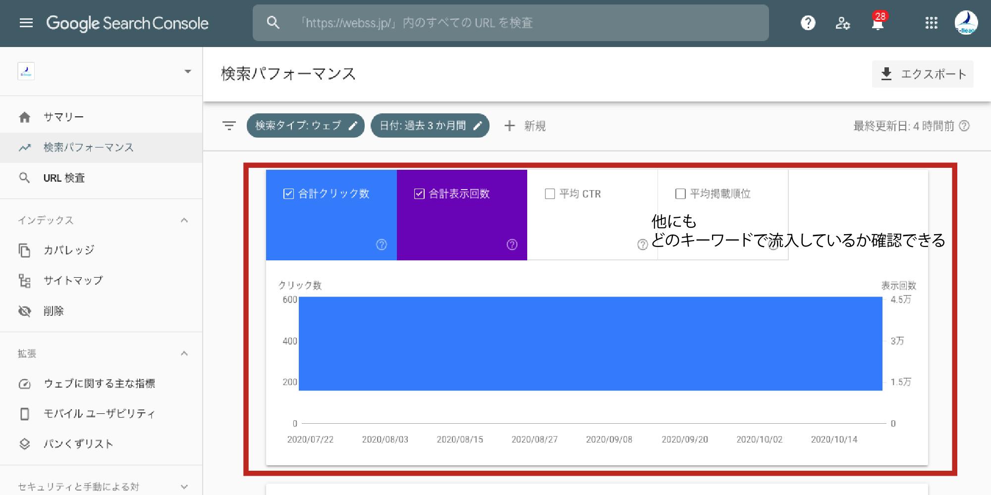 サーチコンソール_使い方_検索パフォーマンス